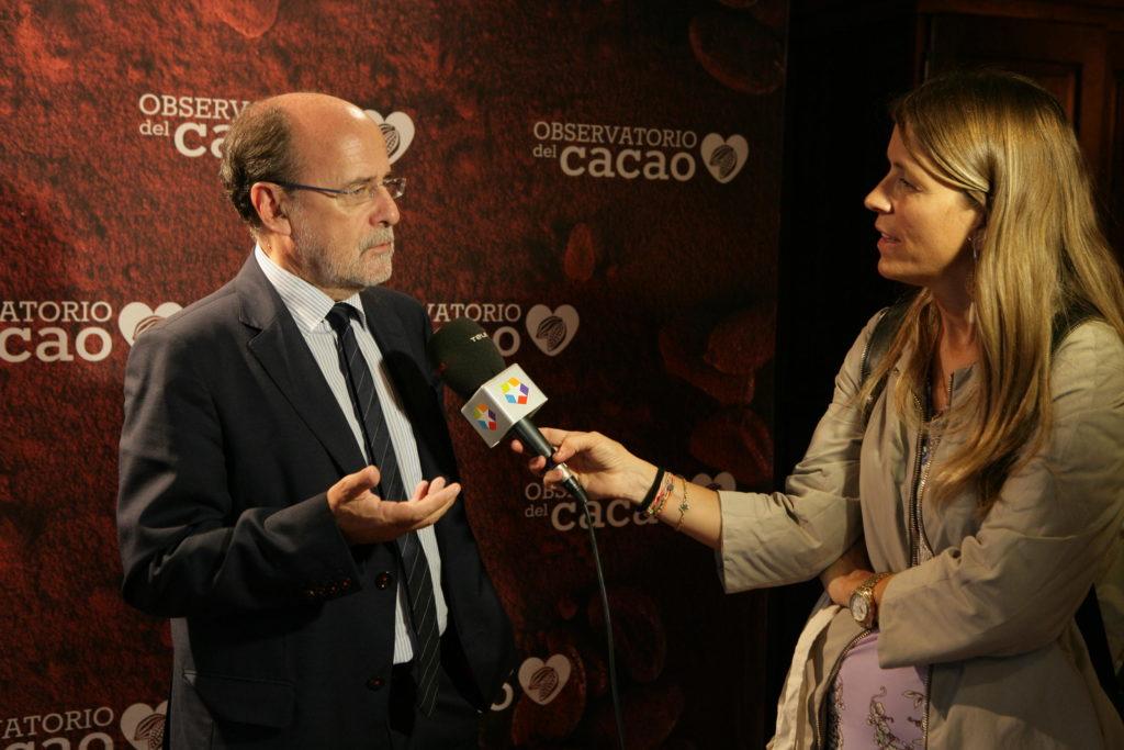 Doctor Estruch entrevistado por Telemadrid tras su ponencia